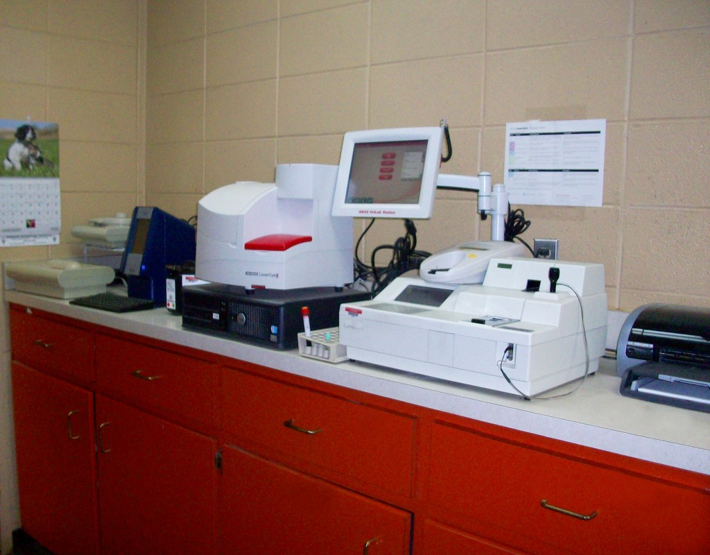 Extensive in-house lab machine.