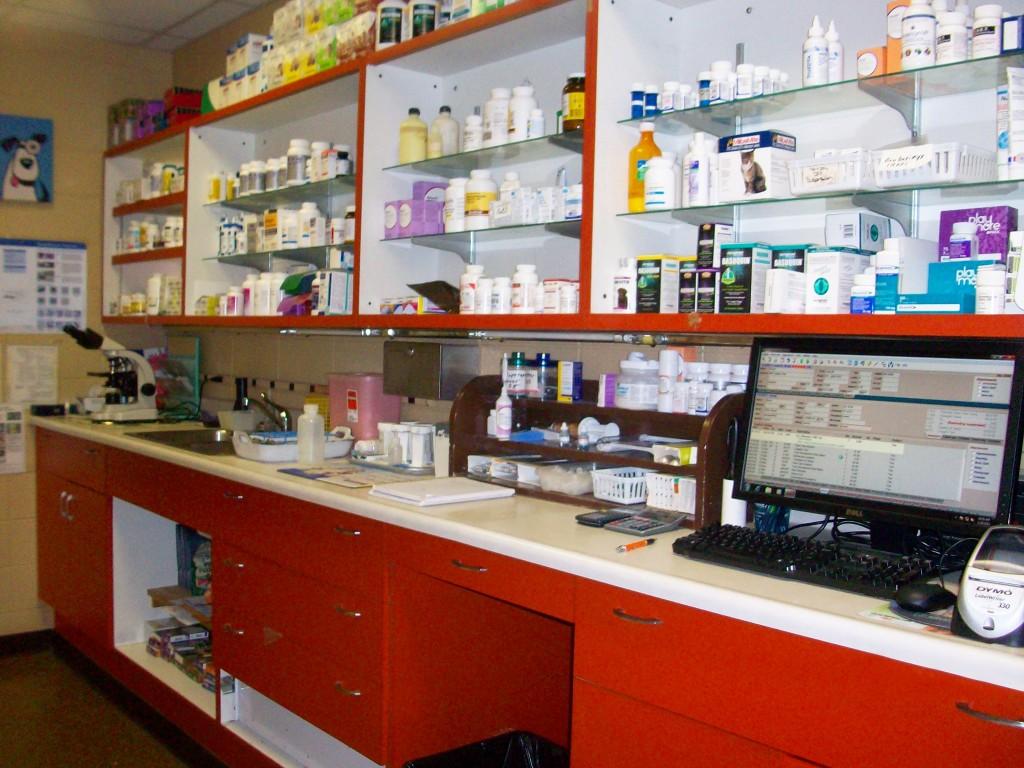 In-house pharmacy.